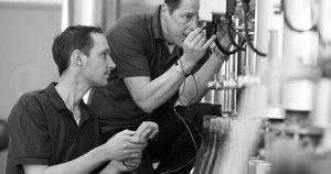 2 men experience fume cupboard testing