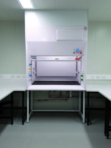 Dynaflow 1500GRP with infill panel 2 Fume Cupboard Fume Hood