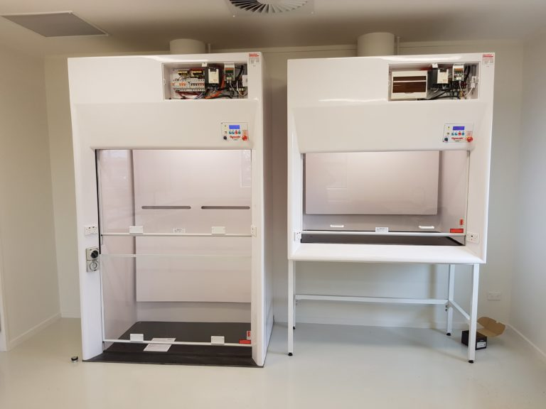Dynaflow Ducted Fume Hood WIN (walk in) Two sizes