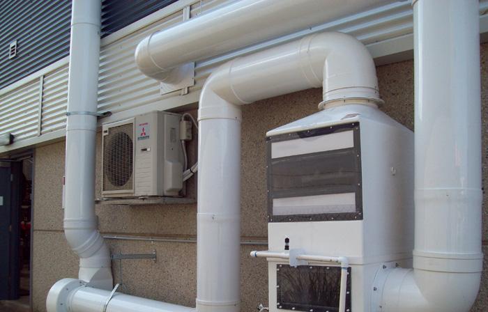 Dynaflow NULON 001 fume scrubber combined