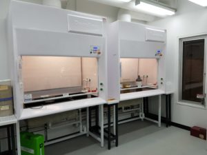 Dynaflow1500GRP side by side Ducted fume hood