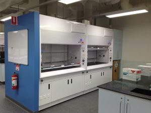 Fume cupboard installation in university